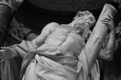 DSC00326 (olliethewino) Tags: blackandwhite italy rome church statue standrew stjohnlateran