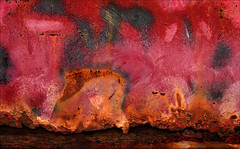 Conflagration (Junkstock) Tags: old red abstract color texture closeup oregon photography photo rust paint chaos photos decay rusty textures photographs photograph rusted weathered salem abstraction aged distressed corrosion decayed patina corroded chaotic rustyandcrusty oldandbeautiful