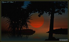 Composizione d'estate - Luglio-2016 (agostinodascoli) Tags: sunset art texture nature alberi photoshop landscape nikon tramonto mare estate digitalart digitalpainting nikkor paesaggi sicilia luglio photopainting cianciana agostinodascoli