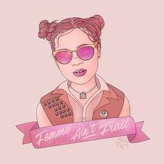 Femme Ain't Frail (TheFreckledFrenzy) Tags: femme aint frail pink monochromatic illustration illustrator vector art artistonflickr feminist galaxy