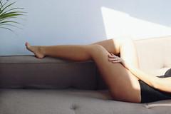 IMG_8835 (shamalova) Tags: sexy girl sexygirl lightsandshadows light sensual attitude redlips blonde legs softskin bando curls attention