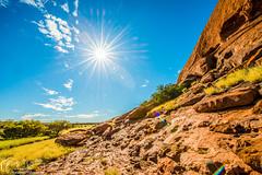 Uluru (Michael JIN97) Tags: uluru nikon nikond800e natural nature scenery landscape ayersrock australia northernterritory rock yulara color colour coloris sky sun afternoon plants glass hill mountain day daytime wide wideangle