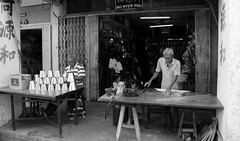 Metal Work (kieronjameslong) Tags: metal metalwork work artisans craftsman craftsmen handicrafts tinkers tinsmith tin smith utensils handicraft kuching sarawak malaysia borneo asia fareast southeastasia street streetphotography reallife handmade workshop studio craft crafts