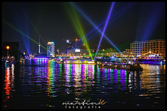 Aquarella 2016 (Krueger_Martin) Tags: night light lights licht reflex reflections spiegelung spree wasser water ship boot boat schiffe colorful bunt farbig fernsehturm mediespree livinglevels berlin 40mm festbrennweite primelense canoneos5dmarkii canoneos5dmark2 canonef40mmf28stm hdr photomatix city stadt urban aquarella