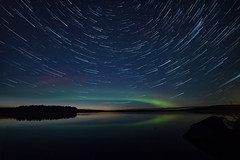 Star trail borealis (L.Matero) Tags: canon 6d jyvskyl finland suomi ruokosaari nightshot night photography star stars trail long exposure lake aurora borealis northern lights revontulet reflection samyang 14mm f28