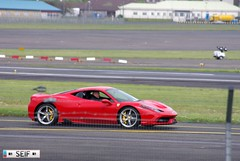 Ferrari 458 Italia Prestwick 2015 (seifracing) Tags: rescue cars st race honda mercedes scotland andrews nissan ferrari hospice voiture vehicles event mclaren porsche emergency runway spotting recovery strathclyde prestwick ecosse seifracing