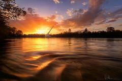 Sundial Bridge Sunset - High Tide (wesome) Tags: redding sundialbridge