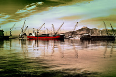 The Red (explored 2015/05/29) (Fnikos) Tags: red port puerto rojo barco ship barcos crane ships cranes ports puertos grúa grúas