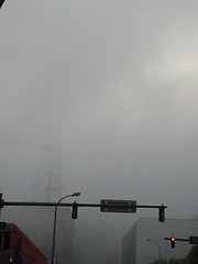 Early Spring Fog Rolls in off Lake Erie and Covers Buffalo May 2015 (ianulimac) Tags: cloud mist ny cold water weather fog clouds ian early spring buffalo warm downtown lakeerie shoreline event ghosts unusual vapor macdonald diffuse dissolve ecc appear disappear eriecounty roil randbuilding