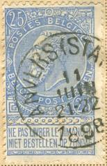 Belgien_blau_1898_25__c (thomassork) Tags: belgique belgi ne le op niet pas dimanche zondag belgien livrer briefmarken bestellen