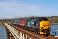 37423 'Spirit of the Lakes' and 37609 2C34 (Cumberland Patriot) Tags: english electric train river coast three spirit lakes rail railway trains class line viaduct cumbria type 37 northern ee services direct the esk drs cumbrian 374 eskmeals 6996 6715 37115 37296 37423 37514 37609 of d6996 2c34 d6715