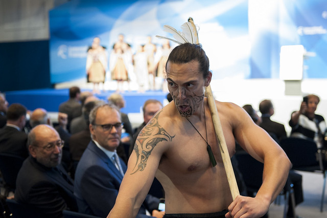 Traditional Maori welcome ceremony