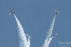 Air Force Thunderbirds four ship