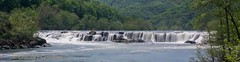 Sandstone Falls (Christy Hibsch ( Christy's Creations on Facebook )) Tags: panorama river westvirginia waterfalls newrivergorge sandstonefalls