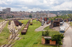 Railway (zenGney) Tags: city building station architecture train serbia railway container belgrade d7000