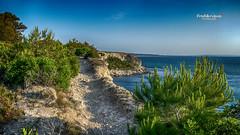 Simplement... (Tra Te E Me (TTEM)) Tags: morning blue sea mer photoshop soleil bleu aude falaises vgtation lumixfz1000