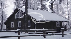 Country House In Snow Cold Winter (alekseiptitsa) Tags: wood travel roof winter vacation white house holiday snow ski cold tree home window nature weather architecture forest season landscape wooden natural outdoor background country snowdrift seasonal resort snowcovered
