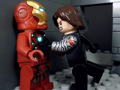 Going for the Arc (MrKjito) Tags: winter man america soldier war iron lego battle tony civil siberia captain minifig stark bucky avengers