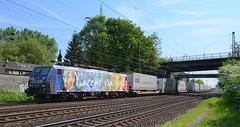 ES 64 F4 206 ERS ( Van Gogh ) (vsoe) Tags: germany deutschland eisenbahn nrw bahn nordrheinwestfalen oberhausen hob freighttrain züge güterzug osterfeld güterzugstrecke