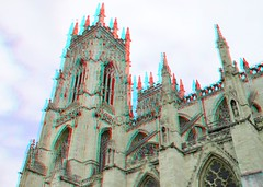 York Minster 3D (wim hoppenbrouwers) Tags: york england 3d cathedral yorkshire anaglyph stereo yorkminster minster redcyan