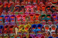 Mille et une chaussures (Fanchec) Tags: baby shoes asia market chiangmai thailande