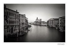 Grand Canal, Venice, Veneto, Italy. (mike dingwall) Tags: longexposure blackandwhite monochrome 10stop