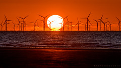 Sunset on Gwynt y Mr (benstaceyphotography) Tags: ocean light sunset sea sun seascape beach wales landscape golden coast nikon y wind farm offshore north hour mr gwynt