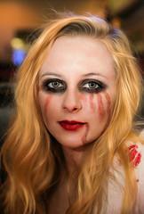 Zombie Rachel (wyojones) Tags: texas houston halloween girl woman beauty beautiful pretty cute costume gorgeous rachel zombie undead blood makeup blonde greeneyes wyojones
