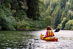 Kayaking on Gualala River, Northern California (JulieAndSteve) Tags: gualalariver highway1 northerncalifornia boat canoeing forest kayak kayaking nature nikon outdoors paddling recreation redwoods river stream