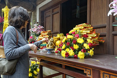Tay Phuong Pagoda west of Hanoi. (EvanGilder) Tags: danielle people travel vietnam buddhism pagoda temple