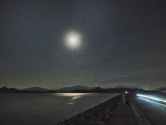 Bright moon over lake (kenley_kwok) Tags: lightstream night lake moon