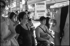 Clementi, SG. (Hao Ran Lai) Tags: pentaxm50f2 commuter building fomapan100 people busstop old pentax k1000 film street