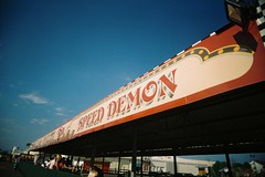 Speed Demon (bigalid) Tags: film 35mm july 2016 skegness butlins holidaycamp vuws superheadzwideandslim agfaphotovistaplus200 c41 fair sign