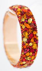 Cimarron By Verdonna Westcott (Verdonna.com) Tags: httpwwwverdonnacom ochre burnt orange rhinestone bracelet bangle indian india spices golden gold red siam ruby stones glass swarovski rhinestones handmade mosaic jewelry