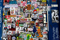 stickercombo (wojofoto) Tags: amsterdam streetart stickers stickerart stickercombo sticker ndsm wojofoto wolfgangjosten wojo
