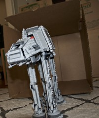 Straight out of the box (Pejasar) Tags: legos starwars walker toy box movingday outofthebox