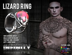 !NFINITY Lizard Ring  @  Men Only Monthly September (infinity.owner) Tags: nfinity lizard ring original mesh mom menonlymonthly men only monthly september jewelry avatar secondlife second life sl accesoires