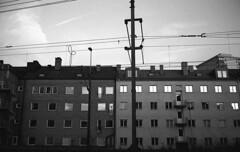 Some buildings (Nils Kristofer Gustafsson) Tags: blackandwhite bnw ishootfilm retro rollei 400s lomo lomography sweden rebro keepfilmalive filmisnotdead filmphotography film rodina adonal yashica electro cc