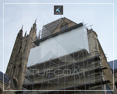 Canterbury Cathedral restoration weather protection - Tufcoat Shrink Wrap