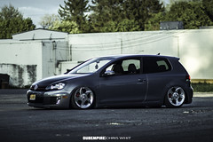 Vinny 4 (Chris Whit) Tags: vw golf volkswagen automotive bags gti dropped hatchback slammed stance vdub airlift airbags bagged tucking mkvi mk6 fitment worldcars slammered accuair bagriders chriswhitphoto