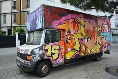 Paris Auto graff van truck graffiti FD (descartes.marco) Tags: catchycolors colorandcolors grafftruck vangraff fdgraff truckvanstreetartgraff