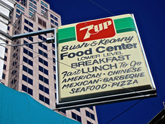 Bush & Kearny Food Center, San Francisco, CA (Robby Virus) Tags: sanfrancisco california food sign breakfast lunch restaurant bush chinatown chinese center mexican american 7up singage kerny