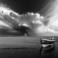 Lindisfarne Rain Shafts (Commended, Landscape Photographer of the Year awards 2016) (John Finney) Tags: lindisfarnecastle lindisfarne castle lpoty takeaview landscapephotogapheroftheyear northumberland