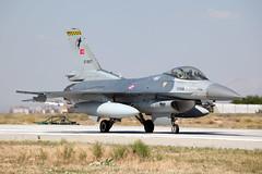 87-0017_F-16CFightingFalcon_TurkishAF_KYA (Tony Osborne - Rotorfocus) Tags: turkey force general eagle air f16 tai falcon fighting viper dynamics turkish konya 2014 anatolian f16c tusas