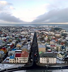 Rejkavik wiew (Iceland) (glopint17) Tags: city travel houses sky streets clouds iceland colours panoramas roofs nuages avenues wiew rejkavik