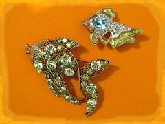 Something Fishy (dog.happy.art) Tags: shiny pin brooch pins collection collectible rhinestones collecting collectable brooches fashionaccessory