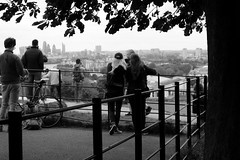 Special View (phoebe.horner) Tags: park trees people white black colour tree monochrome fence landscape photography landscapes photo photographer view edited greenwich royal parks fences squirrell cutty sark