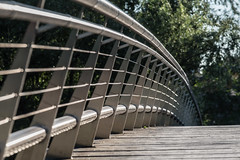 Stainless steel, wood and Mother Nature! (infinitum Photography & Video Production) Tags: madrid puente nikon footbridge steel bannisters pasarela d750 pont handrail brigde acero 70200mm barandilla acier rampe passerelle 70200mmf4 infinitum 70200f4vr infinitumstudio