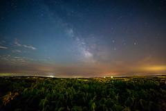 As a red moon was rising (PhotoJacko - Jackie Novak) Tags: canon6d rokinon14mmf28 milkyway night stars field landscape nightphotography summer nature lightpollution grantpark illinois jackienovakphotography wideangle nightsky longexposure