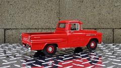 1958 Chevrolet Apache Fleetside Pickup Truck (JCarnutz) Tags: chevrolet apache pickuptruck 1958 diecast fleetside 124scale danburymint